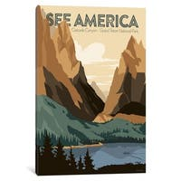"iCanvas ""Cascade Canyon, Grand Teton National Park By Jonathan Scheele"" by Creative Action Network Canvas Print"