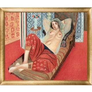 "La Pastiche by overstockArt Odalisque by Henri Matisse with Luminoso Frame, 27"" x 23"""