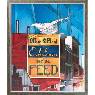 Charles Demuth 'Buildings, Lancaster' Hand Painted Oil Reproduction