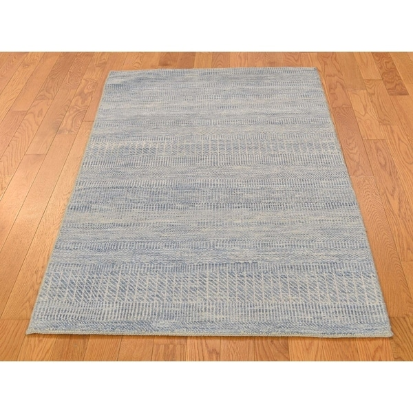 Wool Silk Rugs Contemporary: Shop Hand Knotted Blue Modern & Contemporary With Wool
