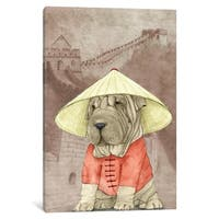 """iCanvas """"Shar Pei With The Great Wall"""" by Barruf Canvas Print"""