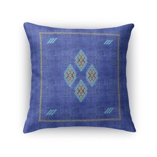 Kilim Bright Indigo Accent Pillow By Becky Bailey