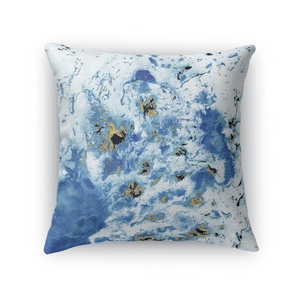 MARBLED BLUE Accent Pillow By Marina Gutierrez