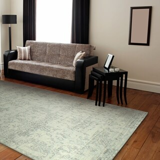 """Aurora Ivory/Silver Transitional Area Rug - 7'6"""" x 9'6"""""""