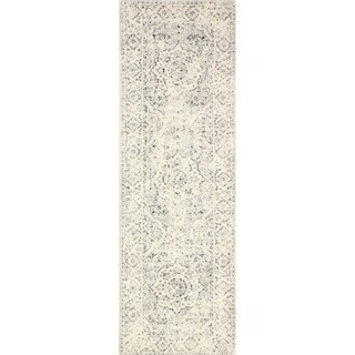 "Alberta Silver Transitional  Area Rug - 2'6"" x 8' Runner"
