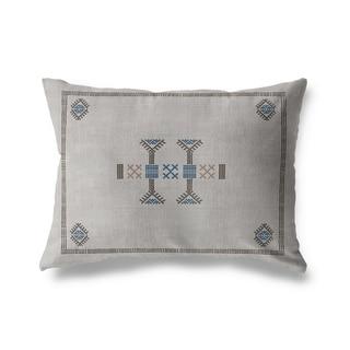 Morroccan Kilim Grey Lumbar Pillow By Kavka Designs