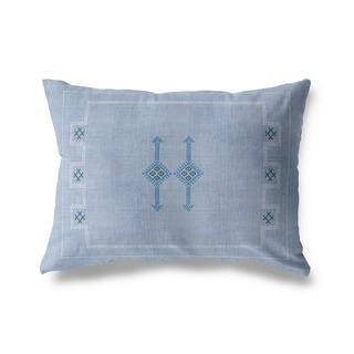 Cactus Silk Light Blue Lumbar Pillow By Becky Bailey