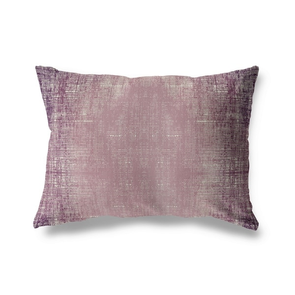 Purple Distressed Lumbar Pillow By Michelle Parascandolo
