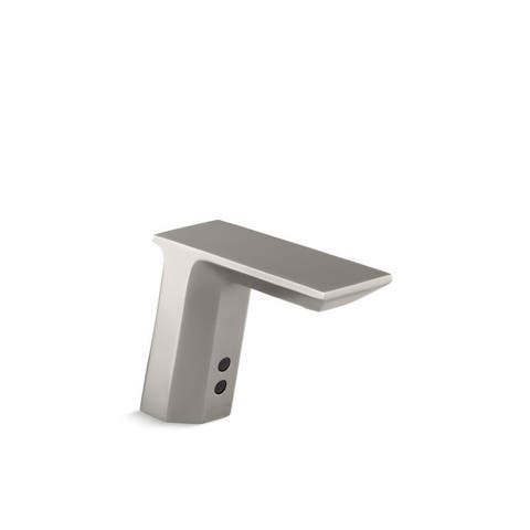 Kohler Geometric Touchless Ac-Powered Commercial Bathroom Faucet with Insight Technology, Vibrant Stainless (K-13468-VS)