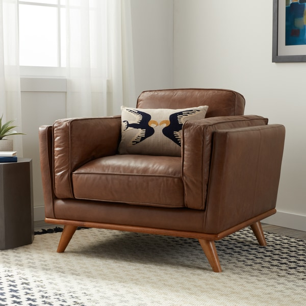 Strick & Bolton Del Ray Chair Tan Oxford Leather