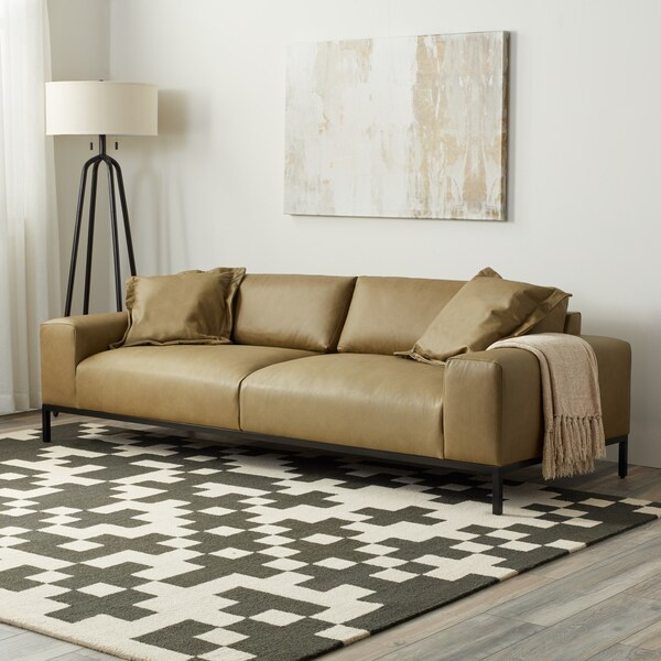 Stone And Stripes Jasper Sofa In Chalk Olive