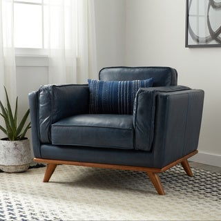 Jasper Laine Del Ray Chair Navy Oxford Leather