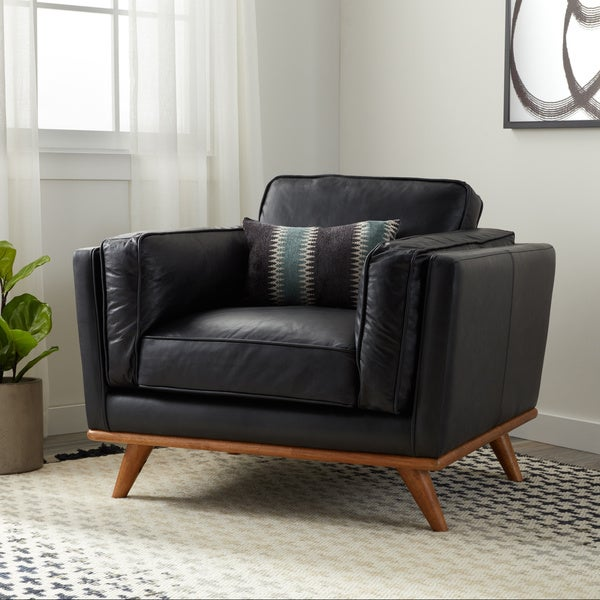Shop Strick Amp Bolton Del Ray Chair Black Oxford Leather