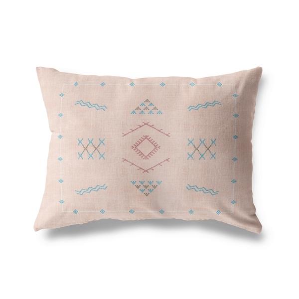 Marrakesh Kilim Peach Lumbar Pillow By Kavka Designs