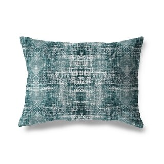 Turquoise Distressed Lumbar Pillow By Michelle Parascandolo