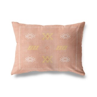 Casablanca Kilim Dusty Rose Lumbar Pillow By Becky Bailey