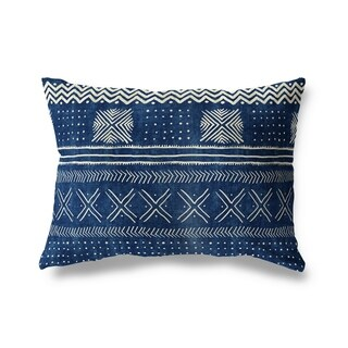 Mud Cloth Lumbar Pillow By Becky Bailey (2 options available)