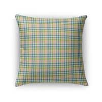 FISHING 1 PLAID Accent Pillow By Northern Whimsy