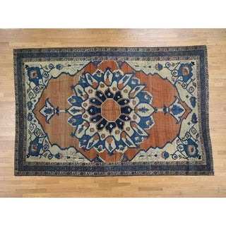 Hand Knotted Red Antique with Wool Oriental Rug - 8'4 x 12'6