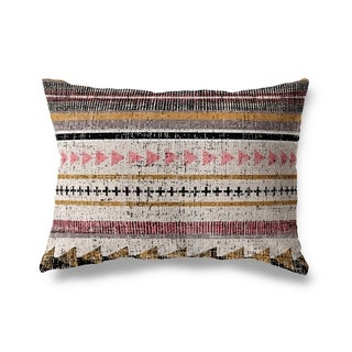 Triangle Stripe Lumbar Pillow By Michelle Parascandolo