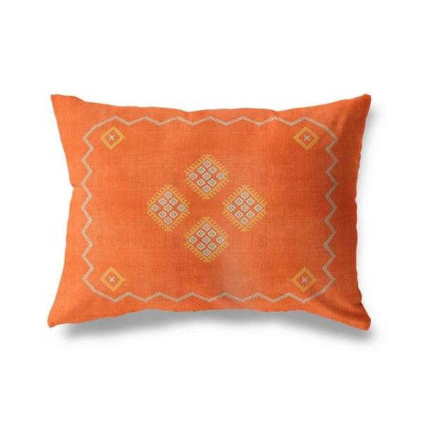 Kilim Orange Lumbar Pillow By Kavka Designs