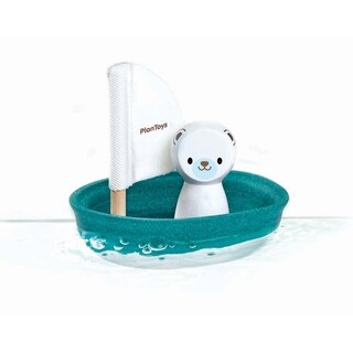 PlanToys Sailing Boat Water Toy - Polar Bear