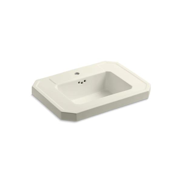 Kathryn Biscuit Single Faucet Hole Bathroom Sink