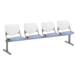 Link to KFI KOOL 4 Seat Beam Bench, White Back, Peri Blue Seat Similar Items in Office & Conference Room Chairs