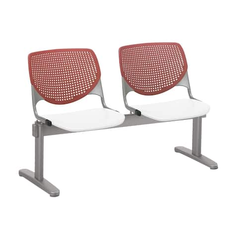 KFI KOOL 2 Seat Beam Bench, Coral Back, White Seat