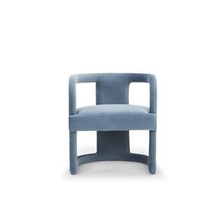 Strick & Bolton Fidelia Blue Accent Chair