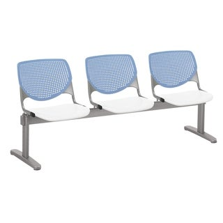 Link to KFI KOOL 3 Seat Beam Bench, Peri Blue Back, White Seat Similar Items in Office & Conference Room Chairs