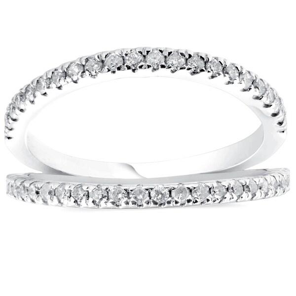 Shop Pompeii3 14k White Gold 1/4 Ct TDW Diamond Stackable