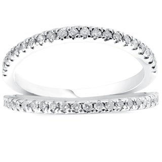 Bliss 14k White Gold 1/4 ct TDW Diamond Stackable Fashion Ring Womens Anniversary Band