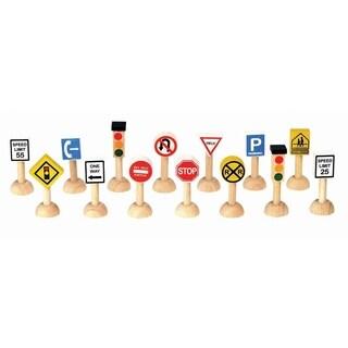 PlanToys PlanWorld Set Of Traffic Signs & Lights