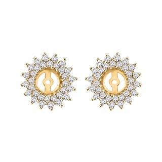 14K White Gold 1 1/2ct TDW Diamond Earring Jackets ( I-J, I1)
