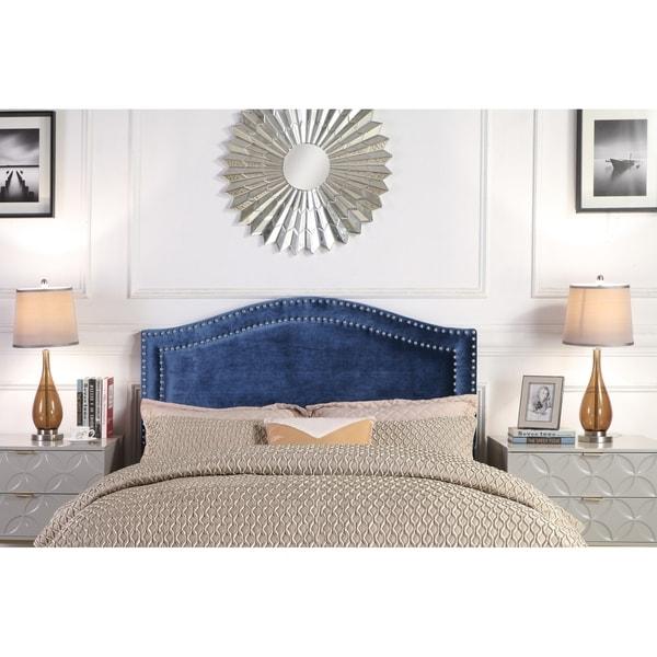 Chic Home Idun Velvet Upholstered Double Row Headboard