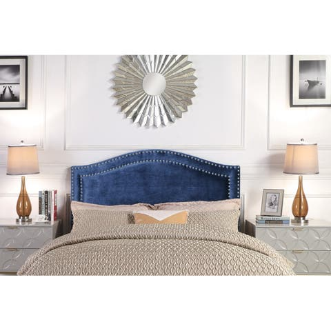 Chic Home Idun Velvet Upholstered Double Row Headboard