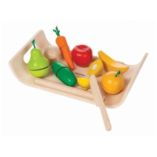 PlanToys Pretend Assorted Fruit & Vegetable Play Set