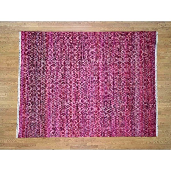 Wool Silk Rugs Contemporary: Shop Hand Knotted Pink Modern & Contemporary With Wool