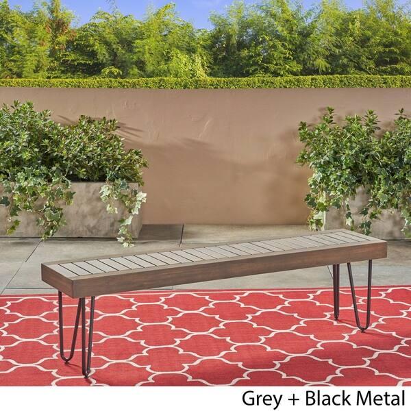 Amazing Shop Jane Outdoor Industrial Bench By Christopher Knight Frankydiablos Diy Chair Ideas Frankydiabloscom
