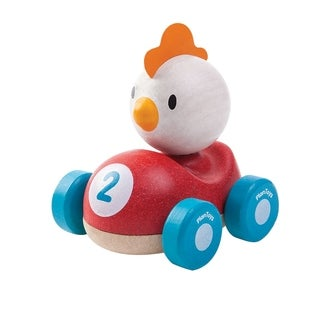 PlanToys Wooden Chicken Racer Mini Vehicle