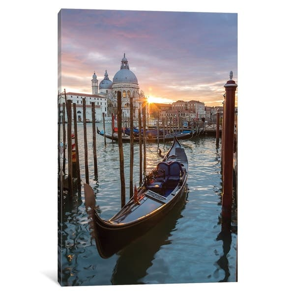 Icanvas Gondola At Sunset Venice By Matteo Colombo Canvas Print Overstock 21527449