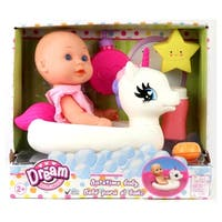 "Dream Collection Bath Time 12"" Baby Doll with Unicorn Floatie"