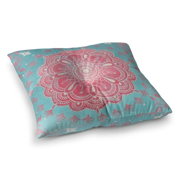 Shop Boho Bloom Turquoise Floor Pillow