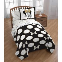 Disney Minnie Gold Dots Full 3-piece Comforter Set