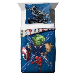 Marvel Universe Battlefront Reversible Oversized Twin 2-piece Comforter Set