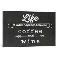 "iCanvas ""Coffee & Wine"" by Amanda Murray Canvas Print"