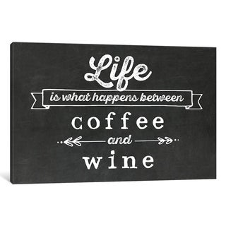 "iCanvas ""Coffee & Wine"" by Amanda Murray Canvas Print"