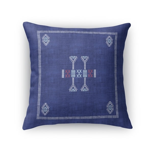 Morroccan Kilim Indigo Accent Pillow By Becky Bailey
