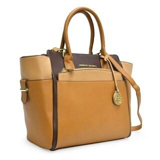 Adrienne Vittadini Color Block Kangaroo Satchel Handbag